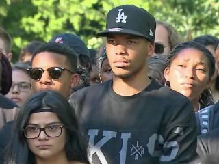 On campuses across the Triangle, students marched in solidarity with those in Charlotte speaking out against police brutality.