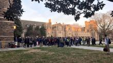 Duke protest rally