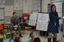 State Superintendent Mark Johnson at Ephesus Elementary School in Chapel Hill on March 15, 2017.