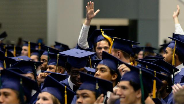 Leesville Road High School 2017 Graduation on Sunday, June 11, 2017 @ the Raleigh Convention Center. (Photo By: Beth Jewell/WRAL Contributor)