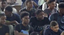 IMAGE: 'Positive peer pressure' motivates Fayetteville students on first day of school