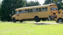 IMAGES: School bus crashes in Benson with 24 students on board