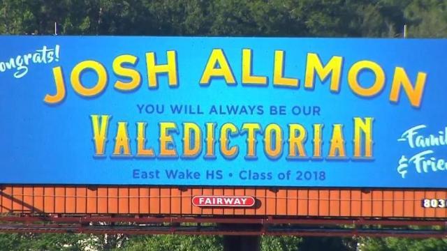 Wake County family celebrates graduate with billboard :: WRAL com