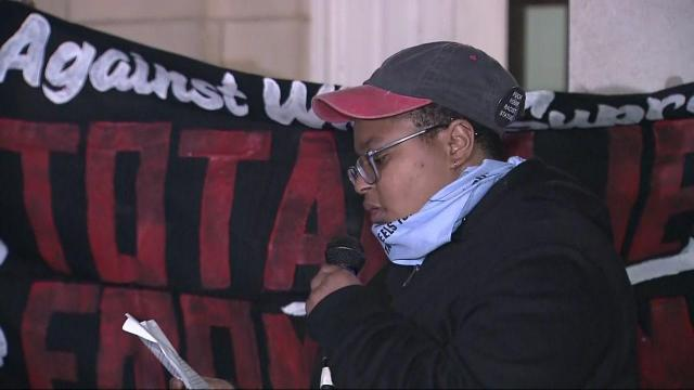 Maya Little, a graduate student at UNC-Chapel Hill, has been outspoken in opposition to the Silent Sam statue.