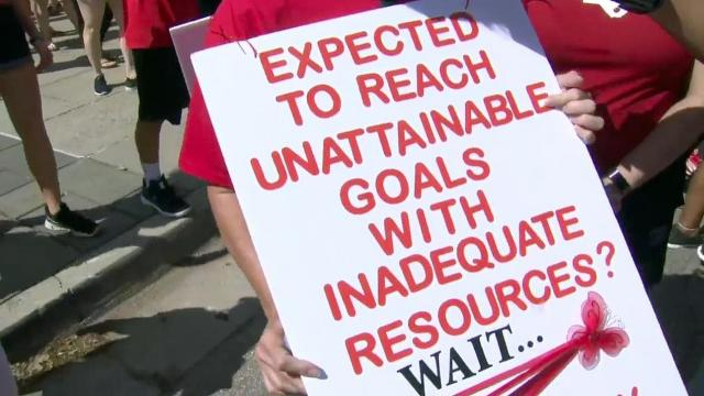Many rally attendees carried signs sharing their messages.