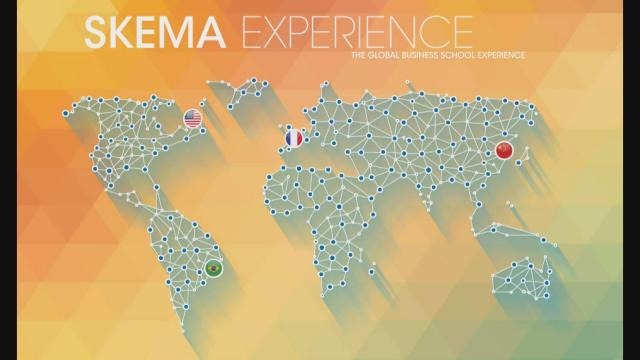 SKEMA web page map of global campuses