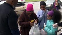 IMAGES: Students pick up meals, school supplies from Wake, Cumberland schools