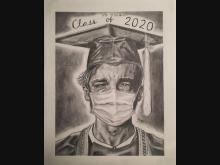 Shaun Deardorff's art expresses a tearful end to the Class of 2020