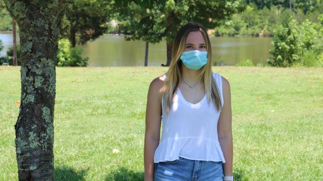 20-year-old Charlotte resident Ashley Duncan contracted COVID-19 while in Barcelona on a spring break trip in March. Duncan said she still thinks about the people she could've infected in the airport on her way home when she didn't know she had the disease. July 19, 2020. Photo by Marco Quiroz-Gutierrez   NC News Intern Corps.