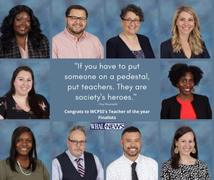 WCPSS Teacher of the Year finalists for 2020-21