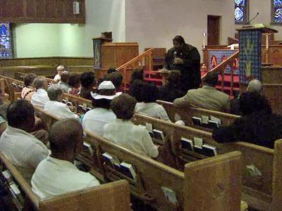 Clergy members in Raleigh held a prayer vigil on Aug. 30, 2010, in an effort to promote diversity in Wake County schools.