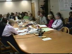 The Wake County school board convenes Oct. 19, 2010, for its committee of the whole meeting.