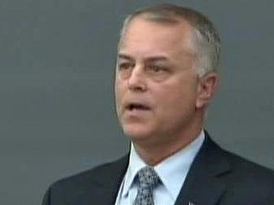 Tony Tata speaks to business leaders Jan. 14 at a reception hosted by the Greater Raleigh Chamber of Commece.