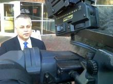 Wake Schools Superintendent Tony Tata speaks with the media following a meeting with the state NAACP on March 2, 2011.