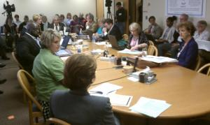 The Wake County School Board meeting for a work session on May 3, 2011