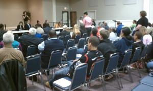 Members of the Office for Civil Rights hear complaints from concerned citizens in Raleigh