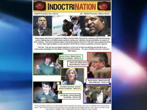This flier circulated at the last Wake County Board of Education meeting.
