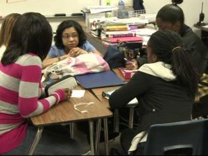 The all-female student population at Middle College at Bennett in Guilford County is one of two single-gender schools where classes are smaller and learning is interactive. Wake County school leaders are considering a similar model for students.