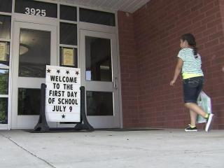 Students in year-round school started the 2012-13 year on Monday.