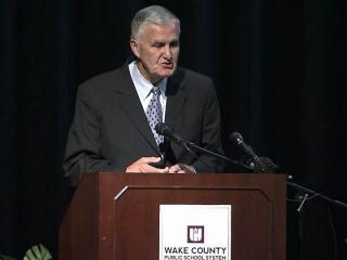 Retired Army Gen. Hugh Shelton helped get the Wake County Public School System's two new leadership academies off the ground on JUly 31, 2012.