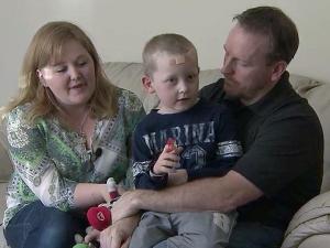 Meghann Baynon, her 6-year-old son, J.D., and John Baynon