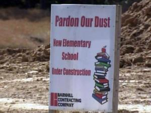 School construction sign