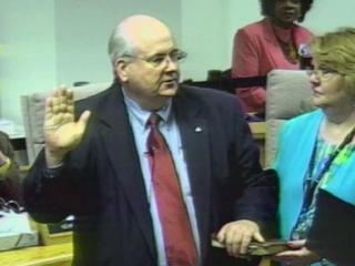 Bill Fletcher swearing in