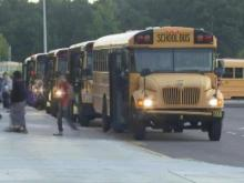 Wake school buses at school