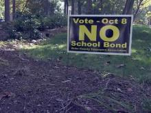 Anti-Wake school bond sign