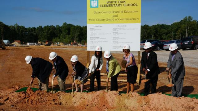 Construction work is underway on White Oak Elementary School, which is scheduled to open in fall 2016.