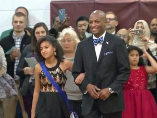 On the eve of Donald Trump's inauguration, an inaugural ball swore in newly elected officers for AB Combs Elementary School.