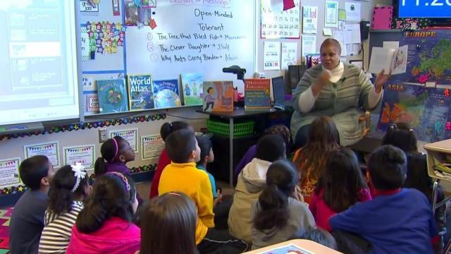 Teaching in N.C. classroom