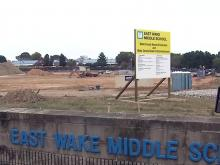 East Wake Middle School construction