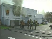 Fire Breaks Out in Funeral Home