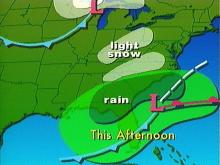 Light, Wet Snow Possible in Triangle Area