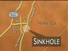 Sinkhole Holds Up Traffic in Wake County