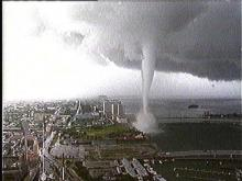 Tornado Blows Through Downtown Miami