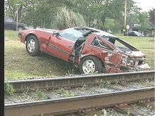 Driver Injured in Clayton When Car Struck by Train