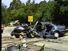 Car Crosses Median, Hits Car on I-85