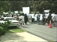 NC Senator's Home Becomes Protest Ground