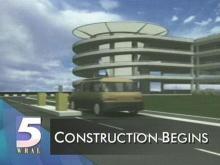 Artist's rendering of future RDU International Airport parking deck (WRAL-TV5 News)