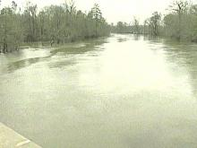 The Neuse River is on the rise. (WRAL TV)