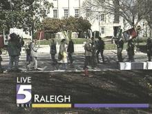 Some Triangle Residents Protesting Attack on Iraq