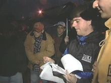Students Brave Rain in Krzyzewskiville