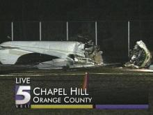 Three people suffered serious injuries, when something went wrong with this plane in Chapel Hill. (WRAL-TV5 News)