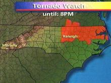 A tornado watch has been issued for the Triangle and points east until 8 p.m. Thursday, April 9. (WRAL-TV5 News)