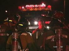 Firefighters reported to the Gross Chemical Building after the blast. (WRAL-TV5 News)