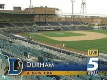 The DBAP is quiet now, but later this evening it will be roaring with fans. (WRAL-TV5 News)