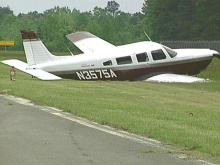 No one was injured when the plane landed on grass (WRAL-TV5 News)