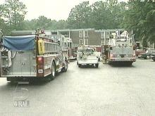 A kitchen fire brought out the trucks Sunday (WRAL-TV5 News)